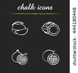 Fruit Icons Set. Sliced Mango ...