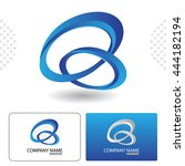 icon design with business card... | Shutterstock .eps vector #444182194
