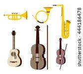 musical instruments. vector...   Shutterstock .eps vector #444186478