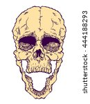 terrible frightening skull.... | Shutterstock .eps vector #444188293