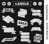 stickers  tags and banners with ... | Shutterstock .eps vector #444196093
