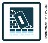 icon of plastered brick wall .... | Shutterstock .eps vector #444197383