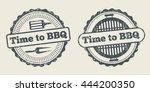 barbecue and grill label steak... | Shutterstock .eps vector #444200350