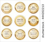 golden premium quality retro... | Shutterstock .eps vector #444202213