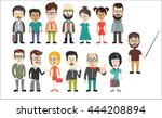 diverse business people ... | Shutterstock .eps vector #444208894
