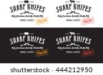 butcher meat label and logotype | Shutterstock .eps vector #444212950