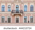 several windows in a row and... | Shutterstock . vector #444213724