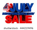 4th july independence day sale... | Shutterstock . vector #444219496