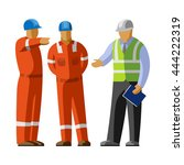 construction workers group... | Shutterstock .eps vector #444222319