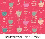 bright floral seamless pattern | Shutterstock .eps vector #44422909