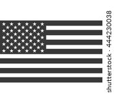 american flag icon with shadow  ...   Shutterstock .eps vector #444230038