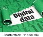 information concept  black text ... | Shutterstock . vector #444231403