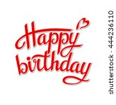 lettering happy birthday on... | Shutterstock .eps vector #444236110