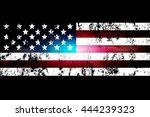 Darkened Background Of The Usa...