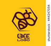 bee logo 2 | Shutterstock .eps vector #444247054