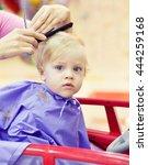 first haircut of little year...   Shutterstock . vector #444259168