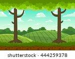 parallax cartoon country... | Shutterstock .eps vector #444259378