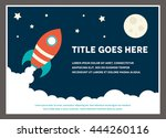 a space rocket themed design... | Shutterstock .eps vector #444260116