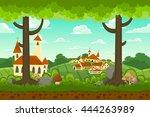 parallax cartoon country...   Shutterstock .eps vector #444263989