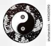 hand drawn romantic beautiful...   Shutterstock .eps vector #444265390