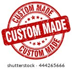 custom made. stamp | Shutterstock .eps vector #444265666