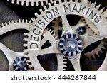 macro photo of tooth wheel... | Shutterstock . vector #444267844
