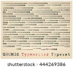 grunge typewriter font. many...   Shutterstock .eps vector #444269386
