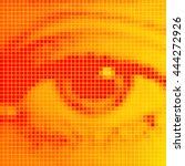 the human eye close up. orange... | Shutterstock .eps vector #444272926