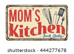 mom's kitchen on vintage rusty... | Shutterstock .eps vector #444277678