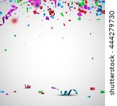 festive background with color... | Shutterstock .eps vector #444279730
