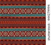 seamless ethnic background....   Shutterstock .eps vector #444279994