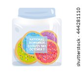 frosted sugar cookies  national ... | Shutterstock .eps vector #444281110
