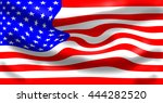 american flag  digitally... | Shutterstock . vector #444282520