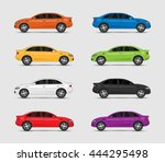 collection of car in different... | Shutterstock .eps vector #444295498