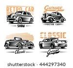 vector illustration of a retro... | Shutterstock .eps vector #444297340