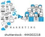 marketing team on white... | Shutterstock .eps vector #444302218