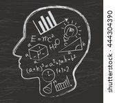 mathematics logo vector | Shutterstock .eps vector #444304390