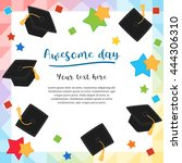 colorful college graduation day ... | Shutterstock .eps vector #444306310
