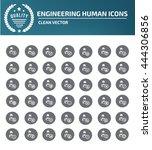 engineering icon set vector  | Shutterstock .eps vector #444306856