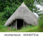 Small photo of UPPER DICKER, EAST SUSSEX/ UK - JUNE 26: Reconstruction of a Late Bronze Age Roundhouse in the grounds of Michelham Priory in Upper Dicker, East Sussex UK on June 26, 2016