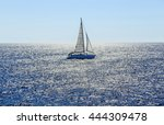 sailing ship yachts with white... | Shutterstock . vector #444309478