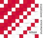 Red And White Geometric Textur...