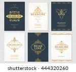 design elements set. vector... | Shutterstock .eps vector #444320260