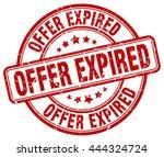 offer expired. stamp | Shutterstock .eps vector #444324724