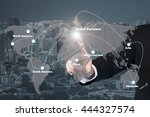 businessman working with... | Shutterstock . vector #444327574