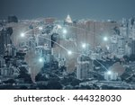network and connection world... | Shutterstock . vector #444328030