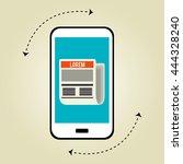 blogging concept  design ...   Shutterstock .eps vector #444328240