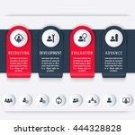staff  hr  employee development ... | Shutterstock .eps vector #444328828