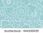 seamless pattern with stylized...   Shutterstock .eps vector #444330439