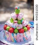 marshmallow cake in the... | Shutterstock . vector #444331030
